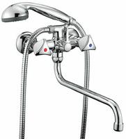 """Смеситель SMART """"Бэйс"""" SM060002AA для ванны/душа, излив 350мм, с аксессуарами, хром /Россия/"""