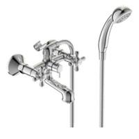 Смеситель VIDIMA RETRO BA355AA для ванны, короткий круглый излив, керамический переключатель, хром