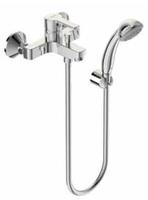 Смеситель VIDIMA UNO BA238AA для ванны/душа, установка на стену, литой излив 95мм, лейка 70мм, держа