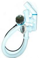 Обвязка АНИ для ванны 1 1/2*40 полуавтомат регулируемая ЕM421 (пластик хром)