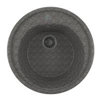 Мойкa MIXLINE ML-GM11 круглая, темно-серая (309), 500мм (глуб. чаши 180)