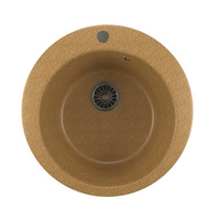 Мойкa MIXLINE ML-GM13 круглая, песочная (302), 495мм (глуб. чаши 190)