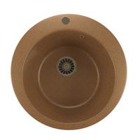 Мойкa MIXLINE ML-GM13 круглая, терракотовая (307), 495мм (глуб. чаши 190)