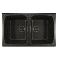 Мойка MIXLINE ML-GM23 двухчашевая, черная (308), 495*775*200мм