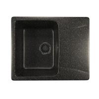 Мойка MIXLINE ML-GM26 с крылом, черная (308), 470*580*190мм