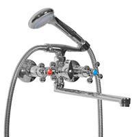 Смеситель MIXLINE ML07-02 для ванны и умывальника 1/2 керамика