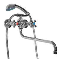 Смеситель MIXLINE ML10-02 для ванны и умывальника 1/2 керамика