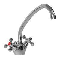 Смеситель MIXLINE ML07-032 для кухни 1/2 керамика высокий излив