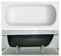 """Ванна стальная 1,7*0,7*0,4 (ВИЗ) Reimar полимерная """"Белая Орхидея"""" цв.белый"""
