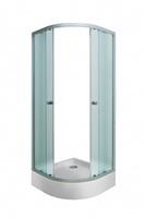 Штора для душ.кабины AFINA 80х80х185 NS (хром, п/круг, Нашиджи) (1Марка)