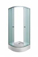 Штора для душ.кабины BELLA 90х90х185 NS (хром, п/круг, Нашиджи) (1Марка)