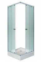 Штора для душ.кабины FREYA 90х90х185 NS (хром, квадрат, Нашиджи) (1Марка)