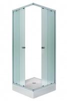 Штора для душ.кабины FREYA 90х90х185 NW (белый, квадрат, Нашиджи) (1Марка)