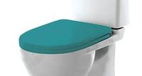 """Сиденье для унитаза """"AMALFI soft-close"""" БИРЮЗА дюро микролифт для Best Luxe (Sanita Luxe)"""