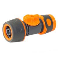 Быстросъемная муфта-коннектор с шаровым краном 1/2, шланг-евро соед.ППГ - 000014