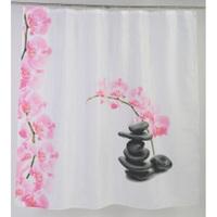 Занавеска для ванной 1800х1800 Розовые камни (CFX475P) Аквалиния