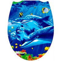 Сиденье для унитаза пластик ФОТОПРИНТ Дельфины 127 (RUS)