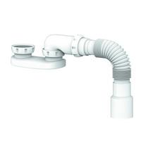 Сифон для душ поддона 1 1/2*40 без выпуска, с гофрой 40*40/50 G12 UNICORN