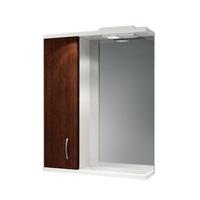 Шкаф зеркальный  550мм с подсветкой Венге 55 лев