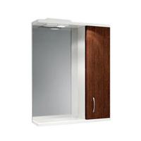 Шкаф зеркальный  550мм с подсветкой Венге 55 прав