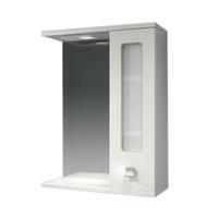 Шкаф зеркальный  550мм с подсветкой Витраж 55 прав