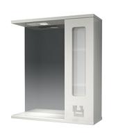 Шкаф зеркальный  620мм с подсветкой Витраж 62 прав