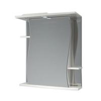 Шкаф зеркальный  620мм с подсветкой Волна 62