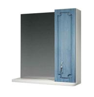 Шкаф зеркальный  650мм без подсветки Патина 65 голубой, прав