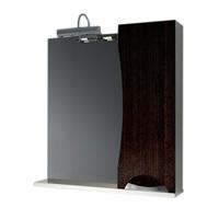 Шкаф зеркальный  700мм без подсветки Каприз-Венге70  прав