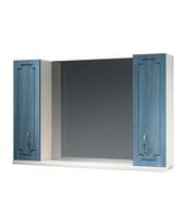 Шкаф зеркальный 1050мм без подсветки Патина 105 голубой