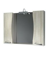 Шкаф зеркальный 1050мм Каприз- дуб 105 с подсветкой светильник 0040 хром, 0024 хром, прав