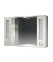 Шкаф зеркальный 1050мм с подсветкой Витраж 105