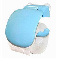 Держатель для туалетной бумаги пластик голубой