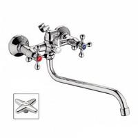 Смеситель LEDEME L2320 для ванны и умывальника 1/2 керамика КРЕСТ катридж.перекл.