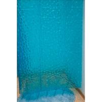 Занавеска для ванной 1800х1800 Ромбы синяя (3D-140) Аквалиния