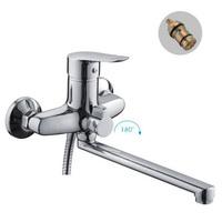 Смеситель FRAP F22703-B для ванны и умывальника 40к див корп L-нос