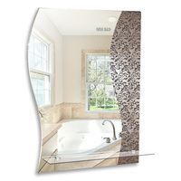 """Зеркало MIXLINE """"Эмилия"""" 535*750 (ШВ) с полкой пескоструйный рисунок"""