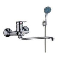 Смеситель КЗС КС 201242 для ванны и умывальника 40к S-нос мет флаж мет шланг лейка
