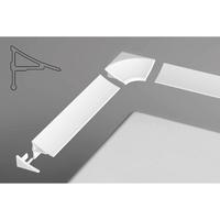 Набор (2 заглушки+2 угловых соединения) для планки 11