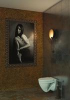 """Унитаз подвесной """"Attica Luxe"""" SL DM (сид.дюро м/лифт, душевой смыв) (Sanita Luxe)"""