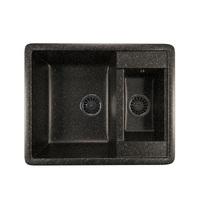Мойка MIXLINE ML-GM21 двухчашевая, черная (308), 485*600*190мм